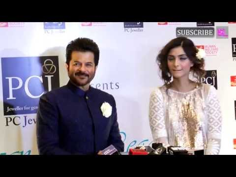 Anil Kapoor and Sonam Kapoor at the Mijwan fashion show