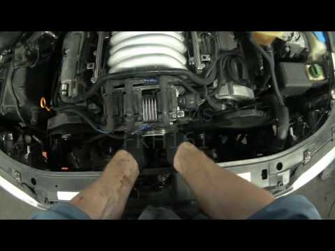 Audi A4: ATQ V6 Timing Belt & Thermostat Removal
