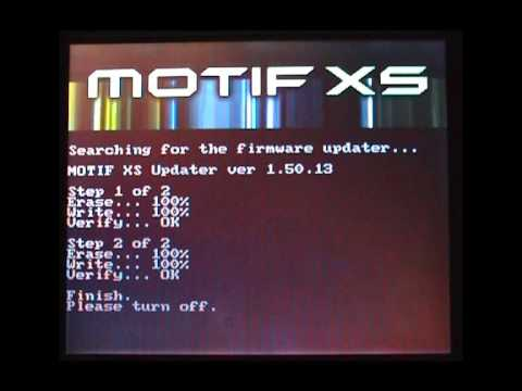 Motif XS  : Mise a jour os, exemple avec la version 1.5