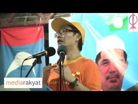 N37 - Elizabeth Wong:  Ceramah Kempen PRU13 Kg Kayu Ara 22/04/2013