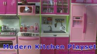 """💜 MODERN KITCHEN TOYS PLAYSET """"My Happy Kittchen"""" 💜 Nhà Bếp Hiện Đại Modern Kitchen (Bí Đỏ)"""