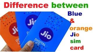 Difference between Blue & Orange JIO SIM by star guruji
