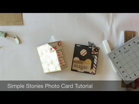 Simple Stories Photo Card Tutorial