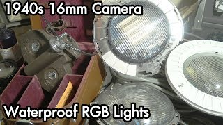 Inbox 23: 1940s 16mm Filmo 70-DL Camera, Waterproof RGB LED Lights, Boiler Sightglass Tube