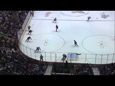 Alex Edler Collides with Mike Smith Leads to Brawl 03/21/13 [HD]