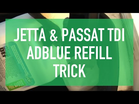 Refill AdBlue on Passat TDI