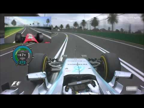 F1 Melbourne GP Lap comparison Schumacher 2004 vs Hamilton 2015