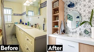 Small Bathroom Makeover: This 90s Bathroom Gets An Upgrade!