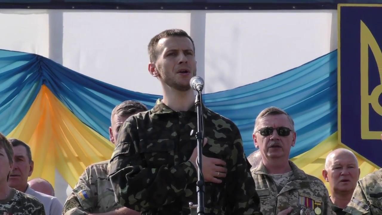 Ветерани АТО Калуша виконали Гімн України з нагоди Дня Незалежності