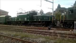 Buchlilok und Krokodil Doppeltraktion im Tösstal mit GmP Fahrzeugtreffen Bauma 12.10.2014
