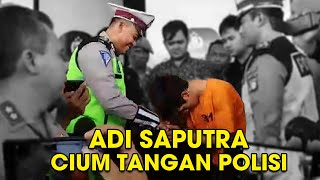 Video Adi Saputra Perusak Motor yang Viral Menangis Minta Maaf, Cium Tangan Polisi yang Menilang