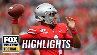 Watch all of Ohio State QB Justin Fields' TDs this season (so far) | FOX COLLEGE FOOTBALL HIGHLIGHTS
