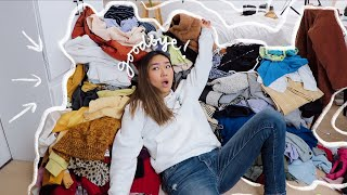 CLEANING OUT MY ENTIRE CLOSET (trying on all my clothes) | JENerationDIY
