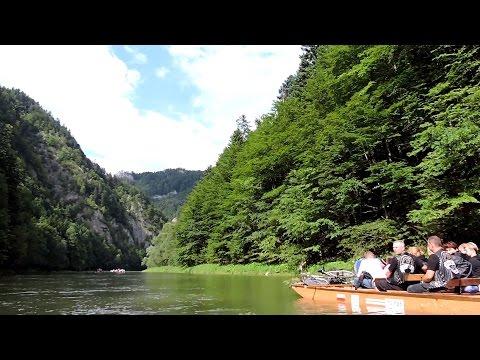 Spływ Dunajcem Piękne Widoki I Zabawny Flisak. HD Dunajec Sierpień 2014