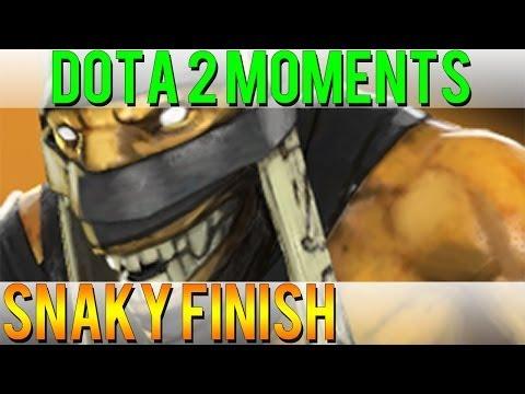 Dota 2 Moments - Snaky Finish
