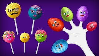 Fun Cake Pop Finger Family Play with Surprise Eggs
