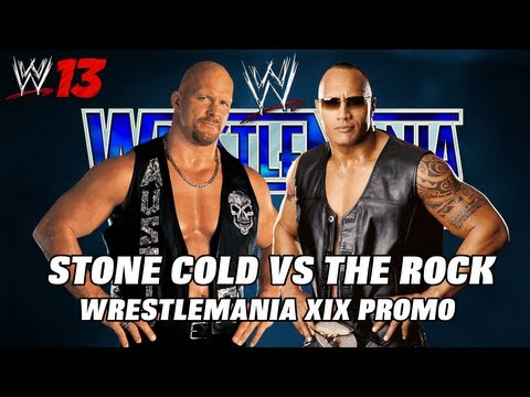 Wwe'13 - The Rock Vs Stone Cold Wrestlemania Xix Promo video
