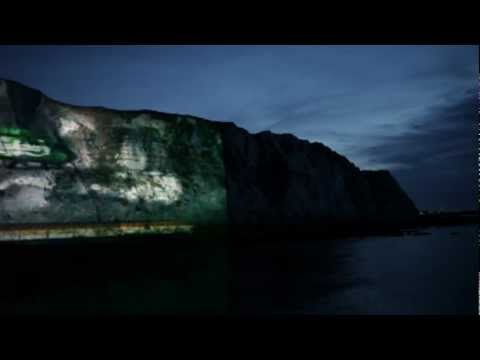 'That Calls for a Carlsberg' Video-Mapping Projection on the White Cliffs of Dover