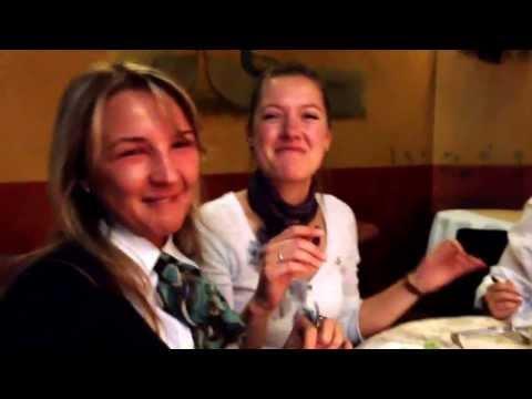 Beautiful Ukrainian and Lithuanian girls singing traditional Albanian