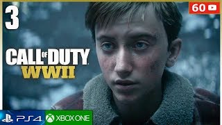 CALL OF DUTY WW2 Mision 3 Gameplay Español PS4 | Campaña Parte 3 (1080p 60fps)
