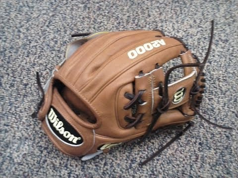 Wilson A2000 DP15 infield baseball glove - Dustin Pedroia actual pro model (detailed overview)