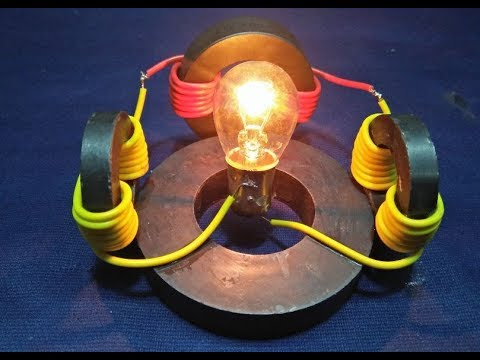 12v || Free Energy Generator || With Magnet Use Light Bulb New Technology thumbnail