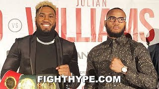 JARRETT HURD VS. JULIAN WILLIAMS PRESS CONFERENCE & TENSE FACE OFF; TRADE PREDICTIONS FOR THE FIGHT