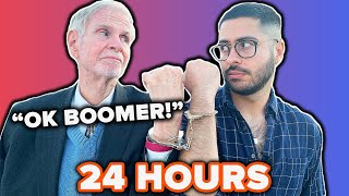 Boomer & Millennial Get Handcuffed For 24-Hours
