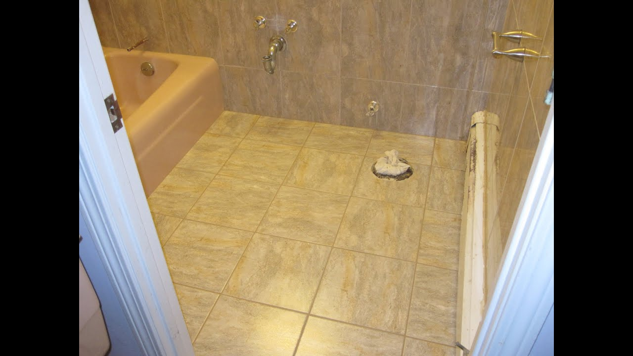 How To Remove Ceramic Floor Tile In Bathroom : Bathroom ceramic tile renovation