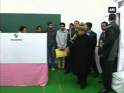 Delhi Polls: President Pranab Mukherjee visits polling booth at the President's Estate