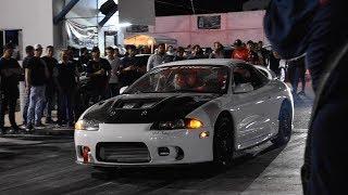 Jueves de Arrancones Autódromo Culiacán #17   MotorAdictosTV probando Eclipse Turbo
