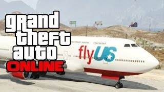 GTA 5 Online - How To Get The MASSIVE 747 Plane/Jet in Free Roam! GTA Online Glitch! (GTA V)