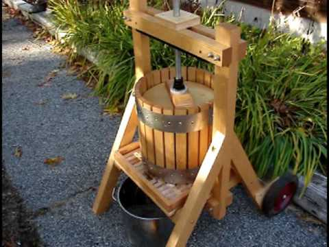 Homemade Maine Apple Cider Hand Press Amp Apple Grinder