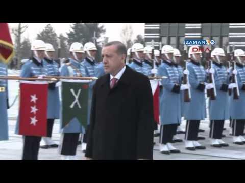 Azerbaycan Devlet Başkanı Aliyev Cumhurbaşkanlığı Sarayı'nda