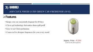 Top 10 Best Car Air Freshener in India 2018 | Best Car Perfumes in India