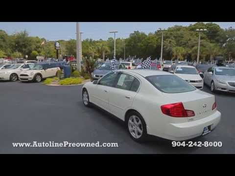 Autoline Preowned 2003 Infiniti G35 Sedan For Sale Used Walk Around Review Test Drive Jacksonville