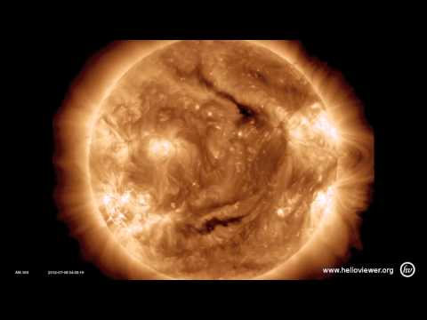 M6.9-class solar flare + a spectacular eruption! (July 8, 2012)
