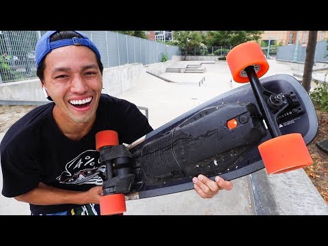 PRO SKATER VS BOOSTED BOARD!!  *Never Been Done Tricks!*