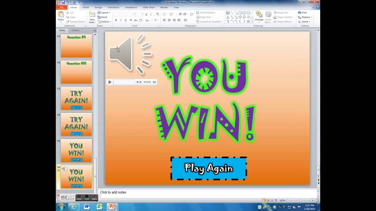 Game Show Template Powerpoint