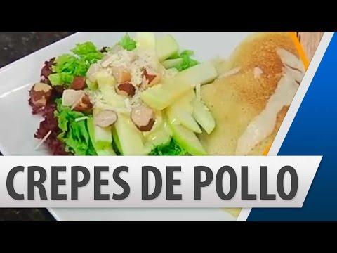 Crepes de Pollo con Champiñones / Recetas de cocina