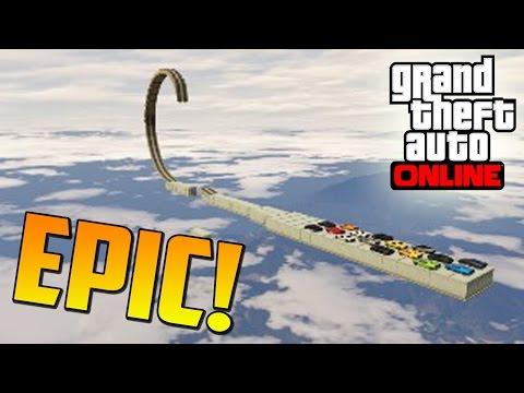 MEGA SALTO GIGANTESCO!! - Gameplay GTA 5 Online Funny Moments