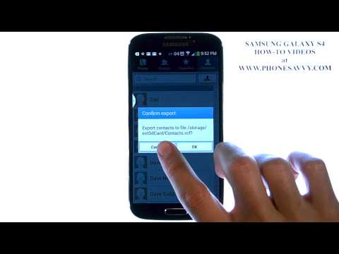 Samsung Galaxy S4 - How Do I Save Contacts to SD Card