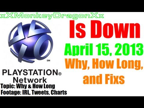 PlayStation Network Down April 15, 2013 | PSN Down 4/15/13 | Can't sign in to Store Home