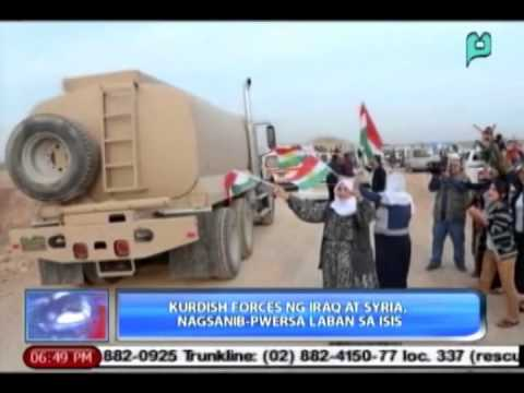 [News@6] Kurdish Forcs ng Iraq at Syria, nagsanib-pwersa laban sa ISIS  [11|01|14]