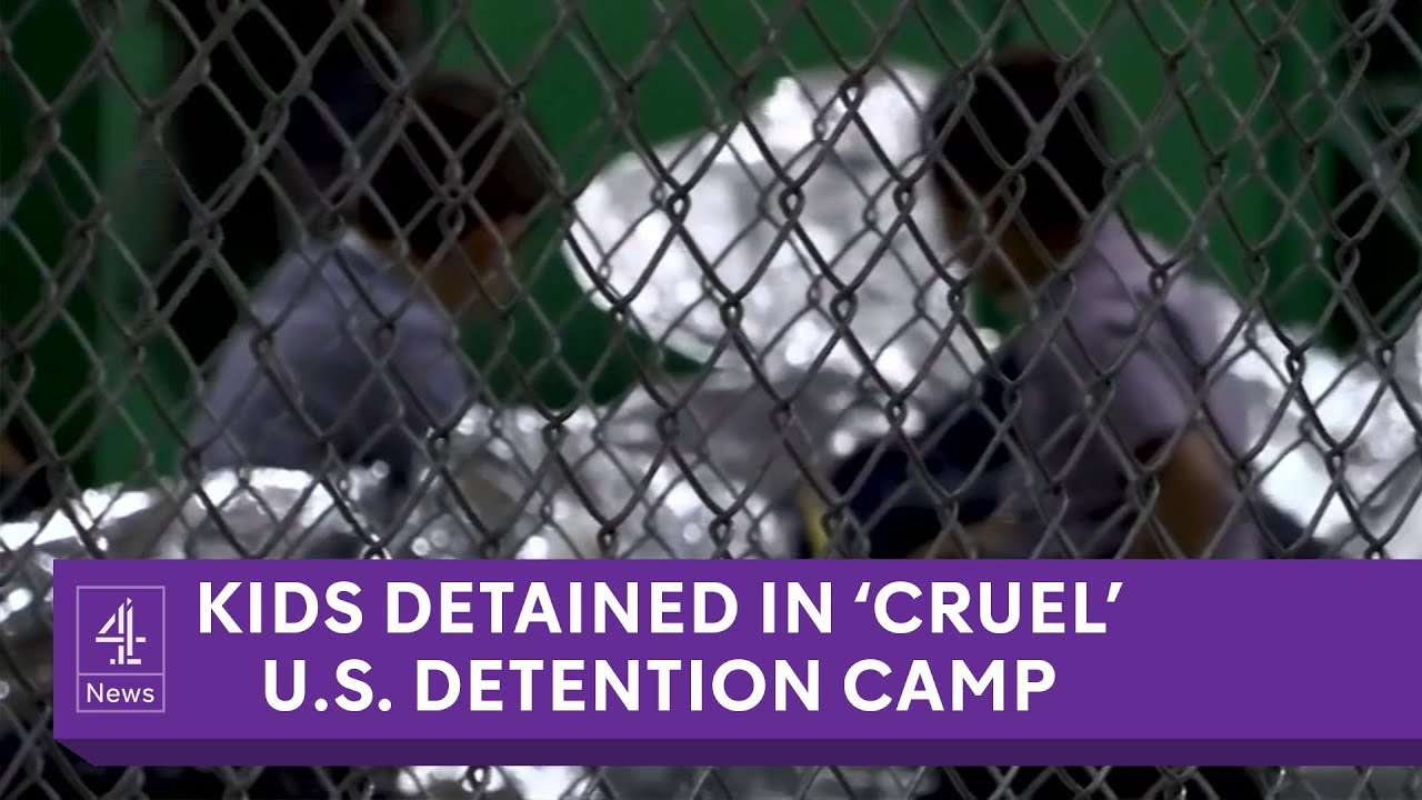 Inside 'cruel' US migrant detention camp for kids