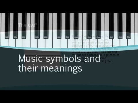 Music symbols and their meanings