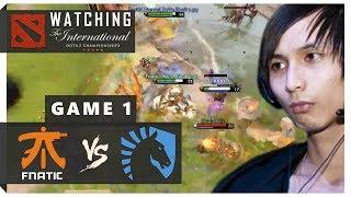 WATCHING TI8 | Team Liquid vs Fnatic Game 1 (SingSing Dota 2 Highlights #1206)