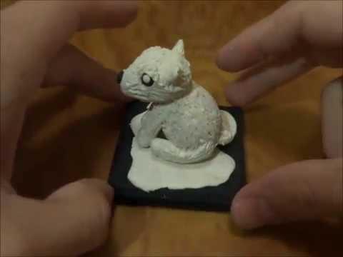 oso polar de plastilina