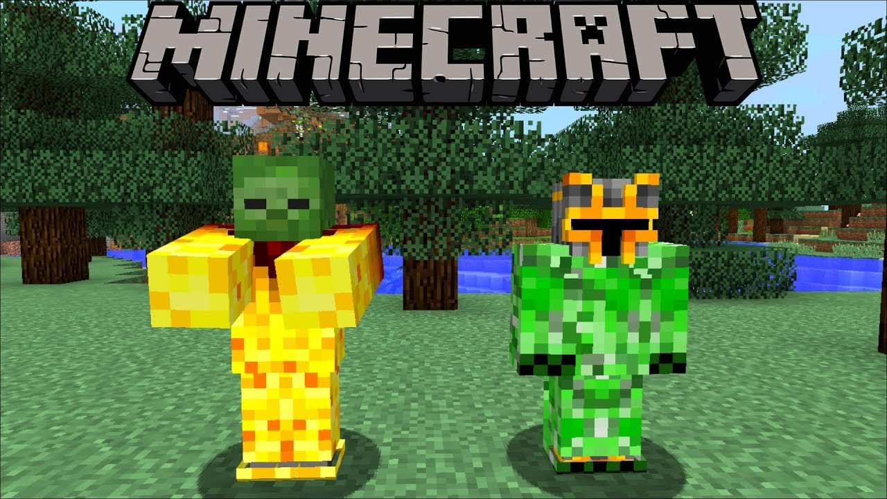 Minecraft MARK AND MC NAVEED BECOME DIFFERENT MOBS !! WE SWAP CREATURES !! Minecraft Mods
