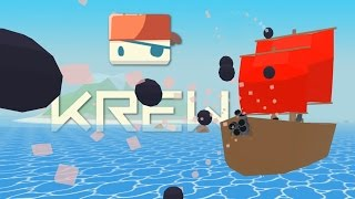 Krew - Sinking The Biggest Ship! - Krew.io Gameplay - Multiplayer Raft Game